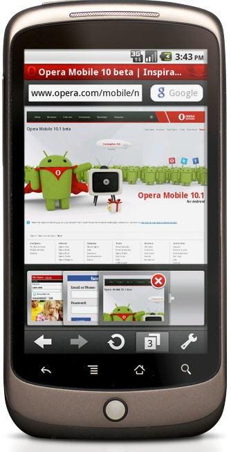 Opera Mobile für Android erschienen – als Betaversion