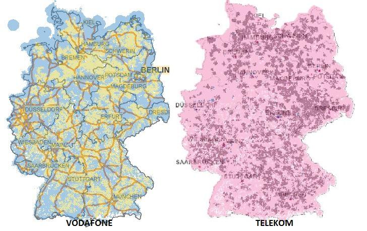 Telekom Dsl Verfügbarkeit Karte.Vodafone Und Telekom Lte Im Vergleich Maxwireless De