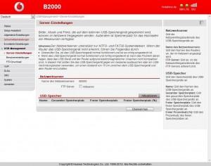 B2000 USB-Management