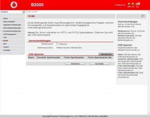 Vodafone B2000 DLNA