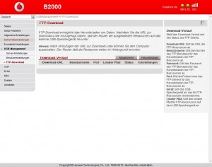 Vodafone B2000 FTP-Download