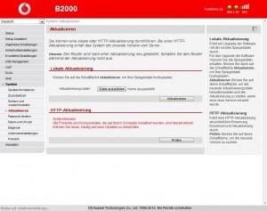 Vodafone B2000 Firmware Update