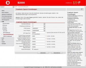 Vodafone B2000 VoIP Einstellungen