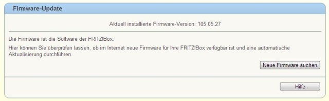 Fritzbox LTE Firmware