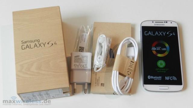 Lieferumfang Samsung Galaxy S4
