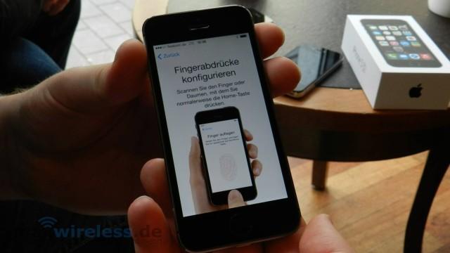Fingerprint Einrichtung iPhone 5s