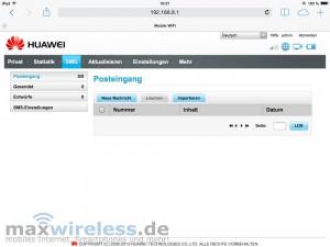 SMS Webinterface