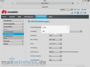 WLAN Frequenzband