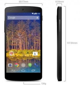 Nexus 5 Abmessungen