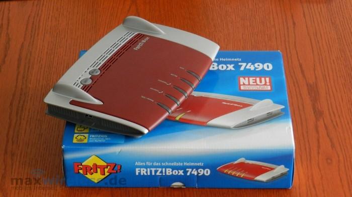 Verpackung Fritzbox 7490