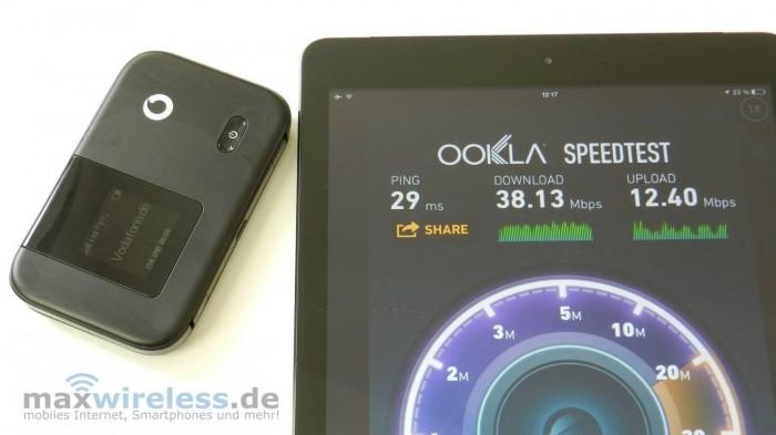 Der Vodafone R215 erreicht auch bei schwachem Empfang gute Geschwindigkeiten.