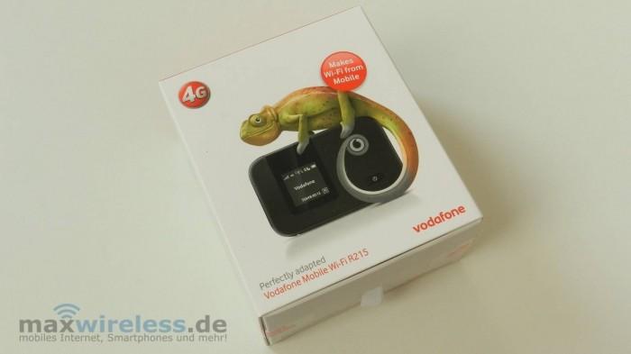 Die Verpackung des Vodafone R215.