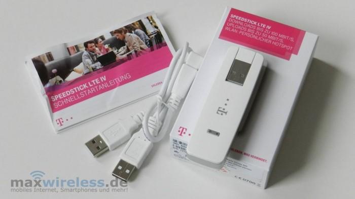 Lieferumfang Speedstick LTE 4
