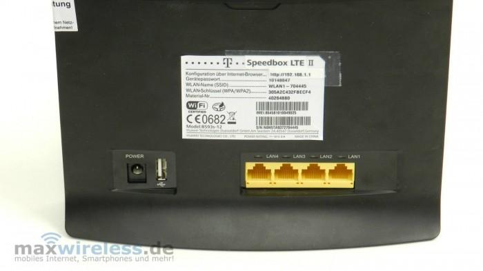 Speedbox LTE 2 Anschluesse
