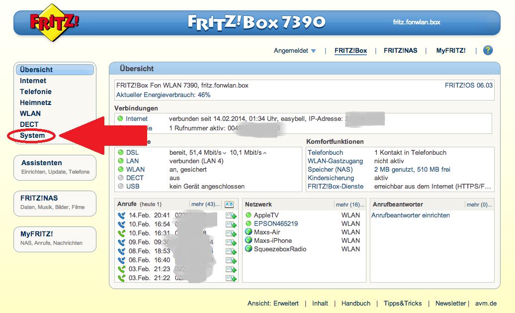 Fritzbox Suchen