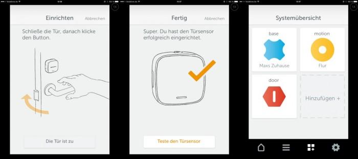 Einrichtung: Gigaset Elements App auf dem iPad