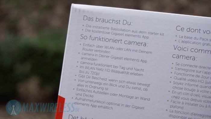 Beschriftung Elements Camera