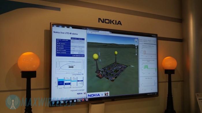 Nokia zeigte auf dem MWC LTE-M für industrielle Anwendungen.