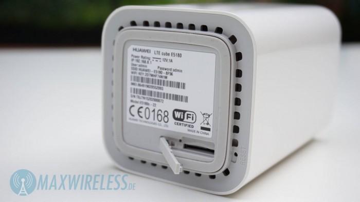 Huawei E5180 SIM Slot