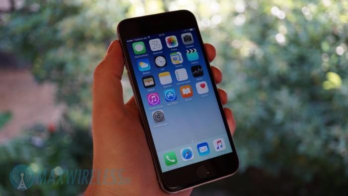 Das Apple iPhone 6s in Space Grau.