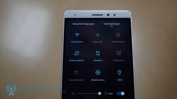 Quick Settings Huawei Mate S