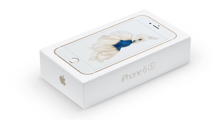 iPhone 6s Verpackung