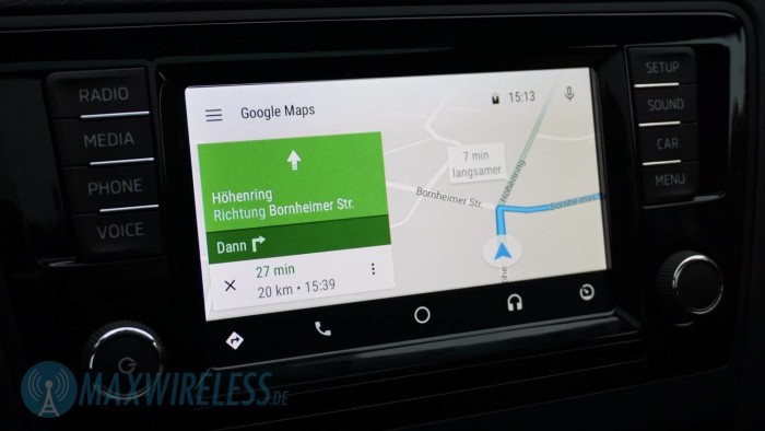 Navigation mit Google Maps auf Android Auto
