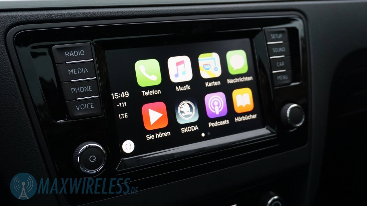 Apple Carplay Wireless >> Test: Skoda SmartLink mit Apple CarPlay und Android Auto | maxwireless.de