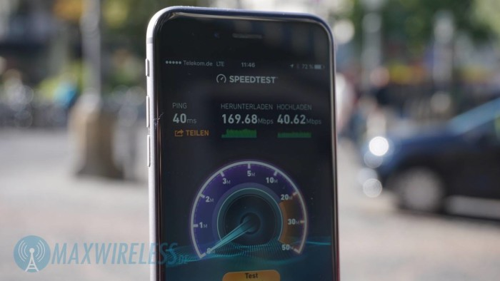 Speedtest iPhone 6s