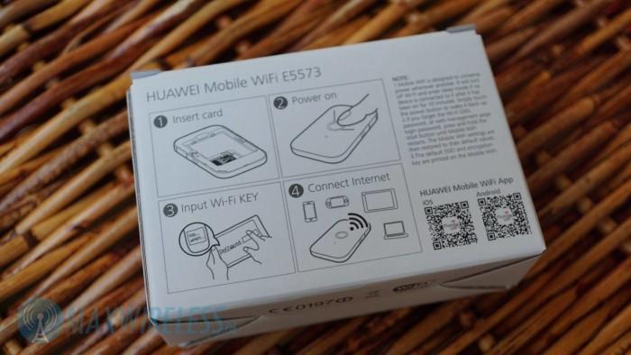 Huawei E5573 Packungsrueckseite