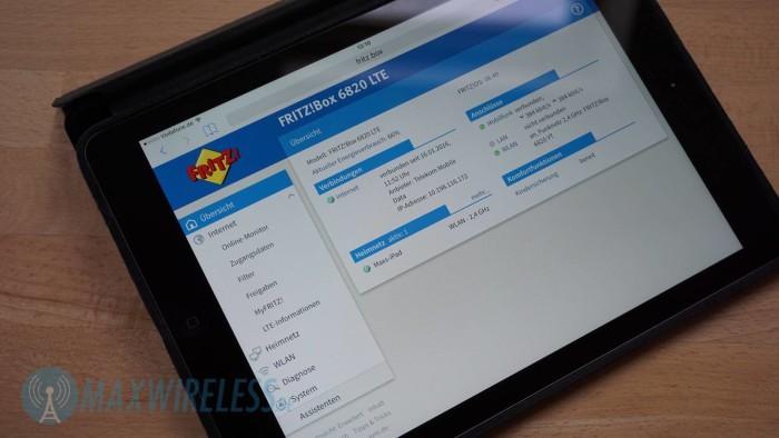 Die Startseite vom FRITZ!OS Betriebssystem