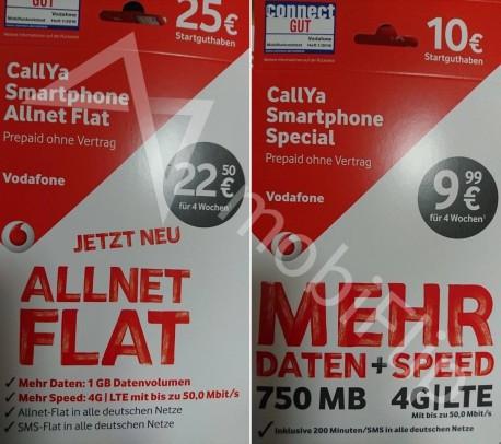 So sollen die neuen Vodafone LTE Prepaid Verpackungen aussehen. Quelle: mobiflip.de