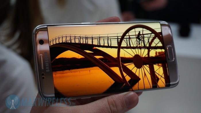 Das Display des Samsung Galaxy S7 edge ist sehr gut.