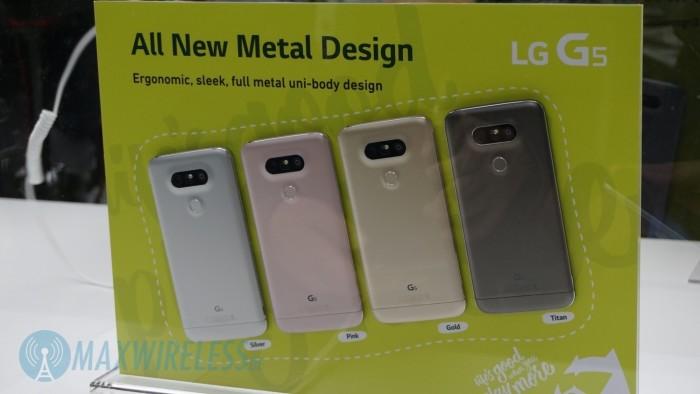 Die vier Farben des LG G5.