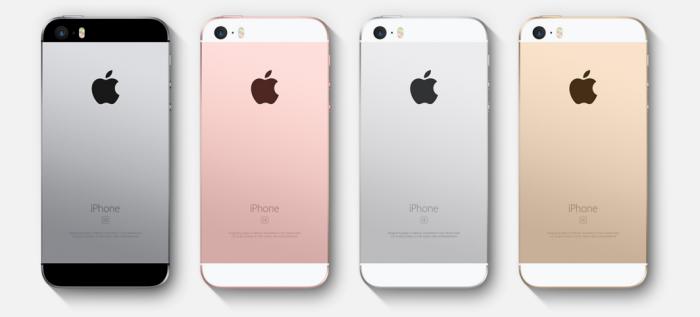 Das iPhone SE ist in vier Farben erhältlich