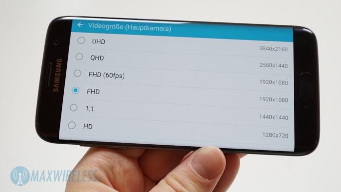 Galaxy S7 edge Videoauflösung