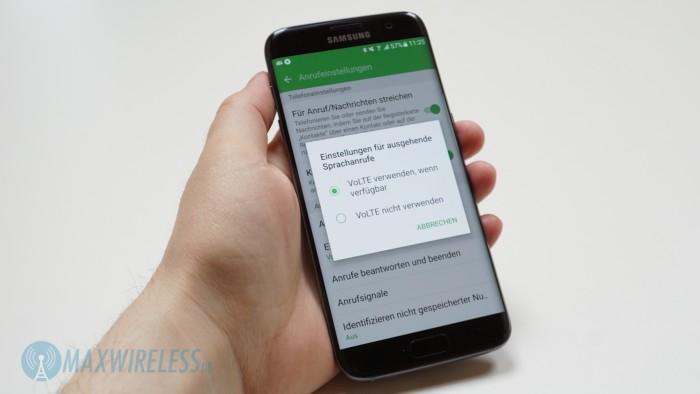 WiFi-Calling wird, wie VoLTE, fest in der Firmware integriert sein. Im Bild: Samsung Galaxy S7 edge