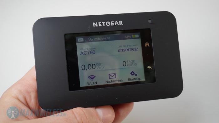 Startscreen Netgear AC790