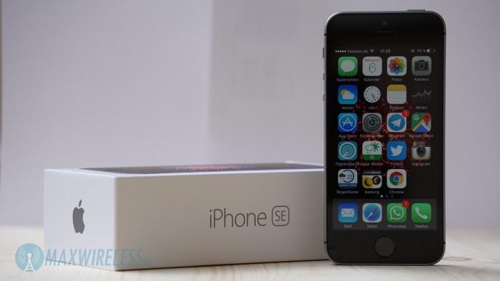 iPhone SE Space Grau