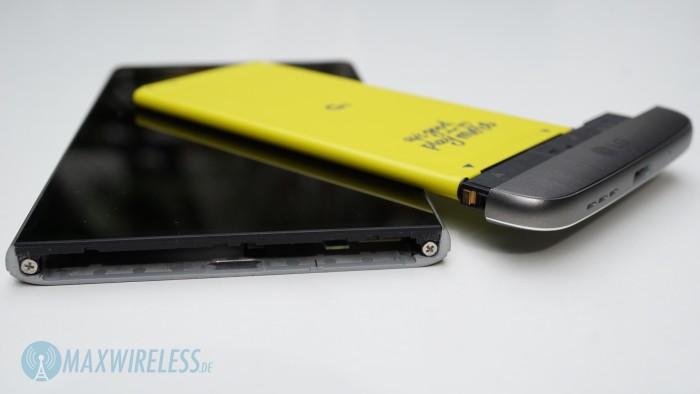 LG G5 offen mit Akku