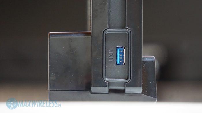 Seitlich gibt es den zweiten USB 3.0 Anschluss.