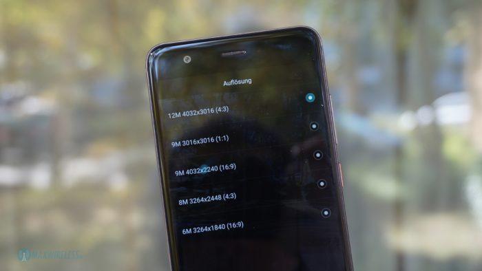 Huawei nova Video Auflösungen