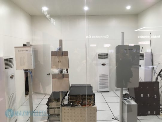 In diesem Raum steht die Technik für den LTE 5G Dual-Betrieb.