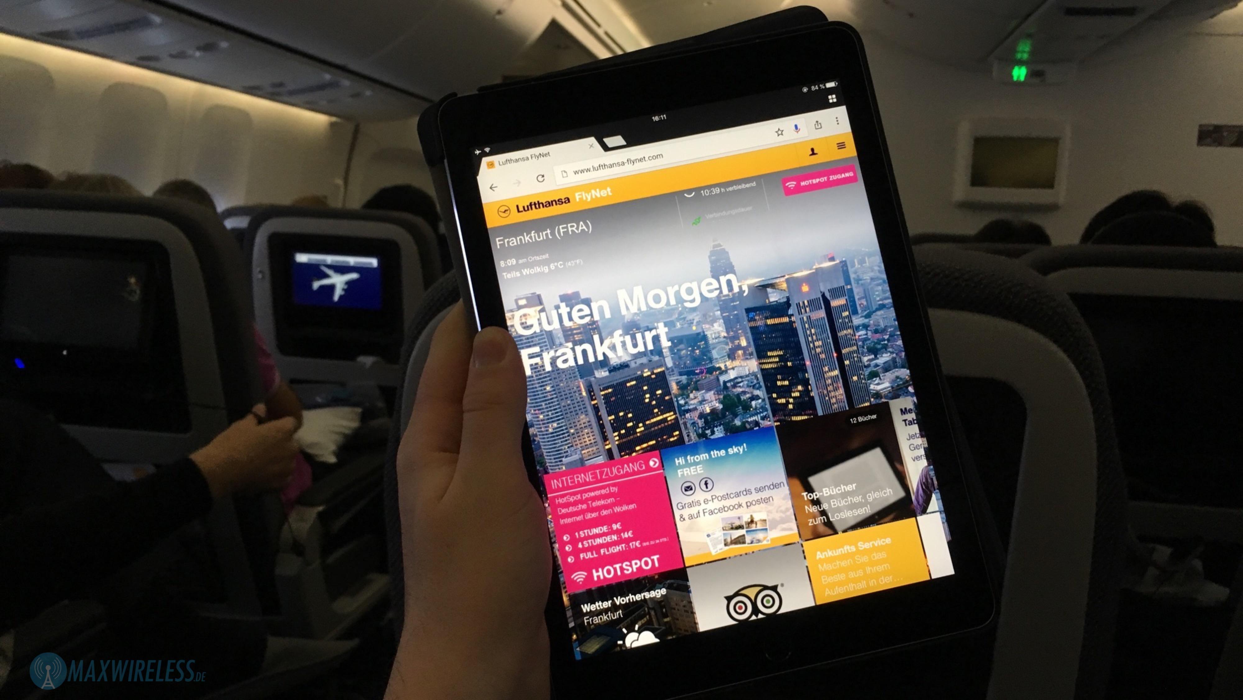 Erfahrungen Mit Lufthansa Flynet Im November 2016 Maxwirelessde