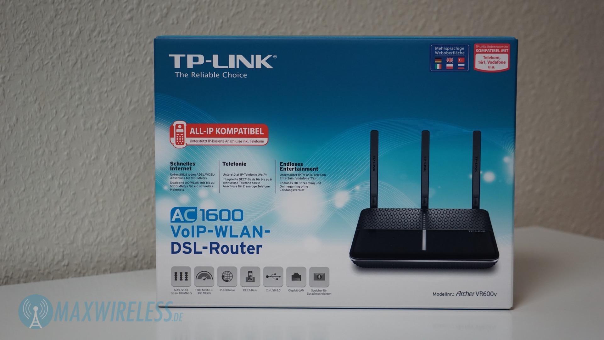 Test: TP-Link VR600v VDSL Modem-Router | maxwireless.de