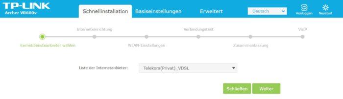 Schnellinstallation VR600v