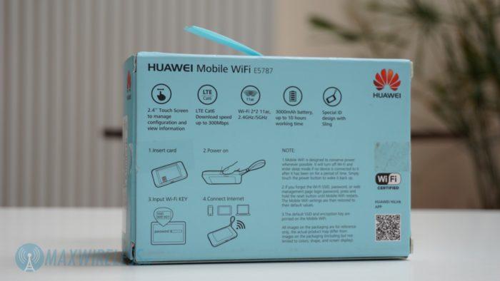 Huawei E5787 Verpackung Rückseite.