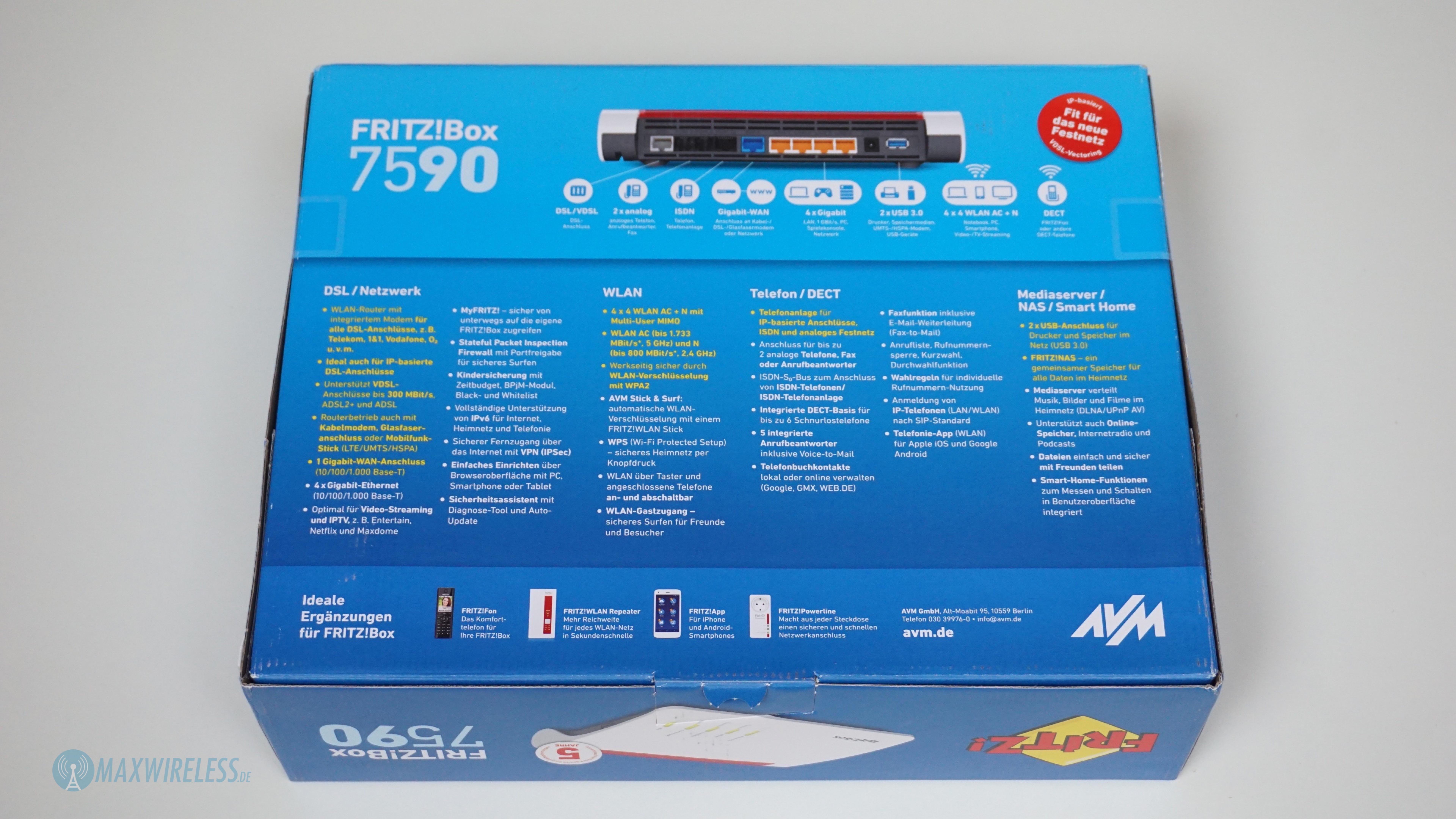 Test: FRITZ!Box 7590 von AVM | maxwireless.de