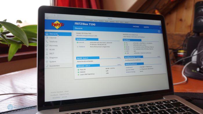 Fritzbox 7590 Webinterface.
