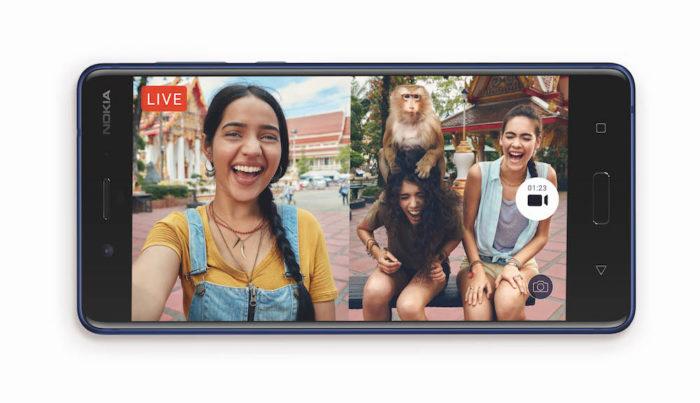 Nokia 8 mit Bothie-Funktion.